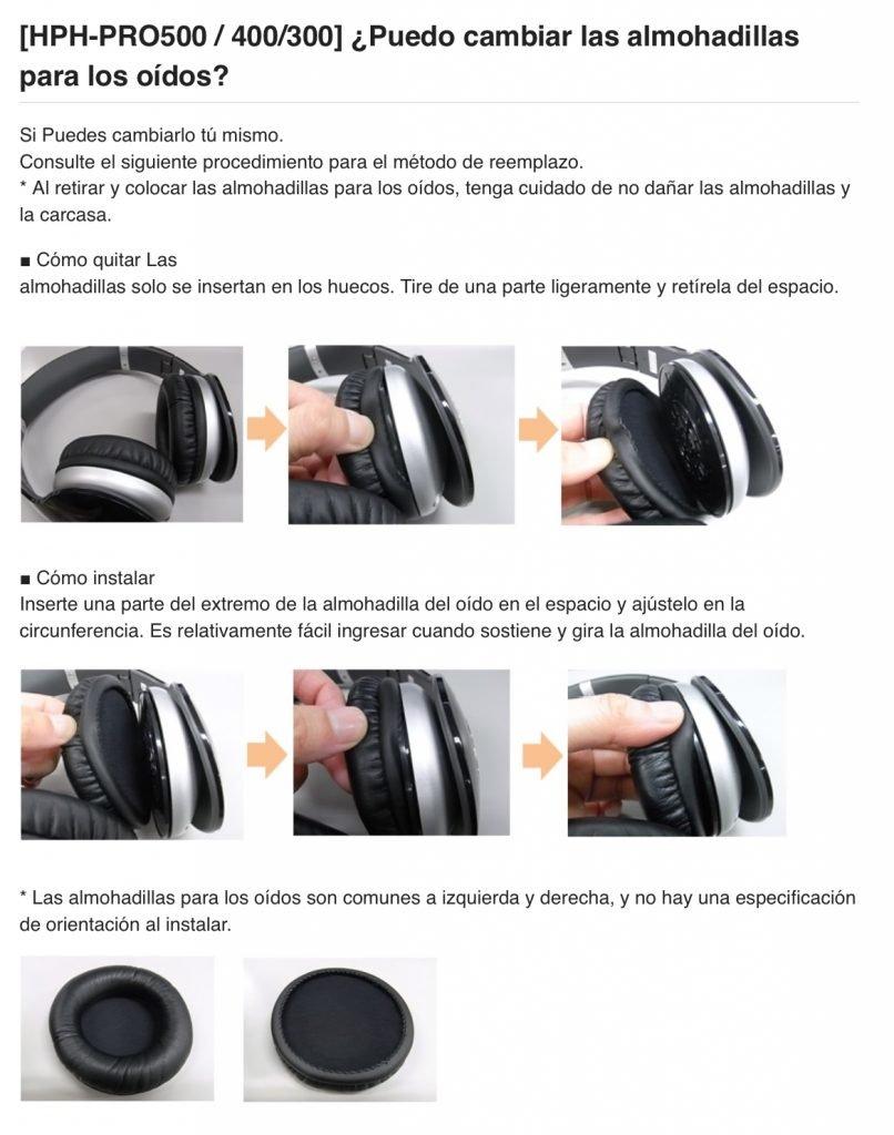 Almohadillas Yamaha HPH Pro