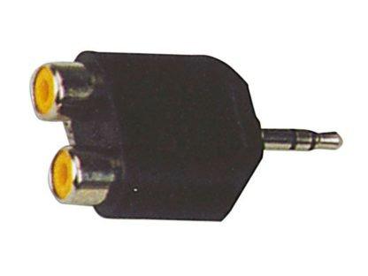 Adaptador 2 RCA - miniJack estéreo
