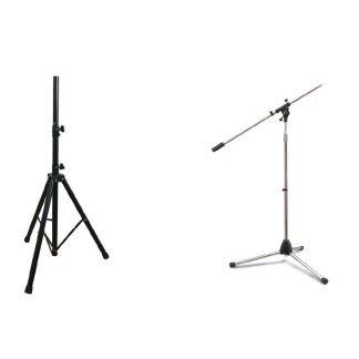 Soportes micrófonos y bafles