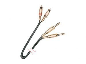 Cable de señal. 2 RCA macho - 2 Jack 1/4'' mono macho.