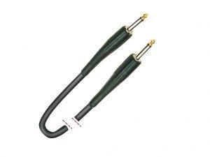 Cable de instrumento. Jack mono - Jack mono. Plástico negro 6m