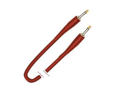 Cable de instrumento. Jack mono - Jack mono. Plástico rojo 6m