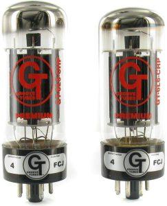 6L6 Pareja Válvula de potencia Machada Groove