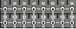 Boton redondo transparente Roland MC909