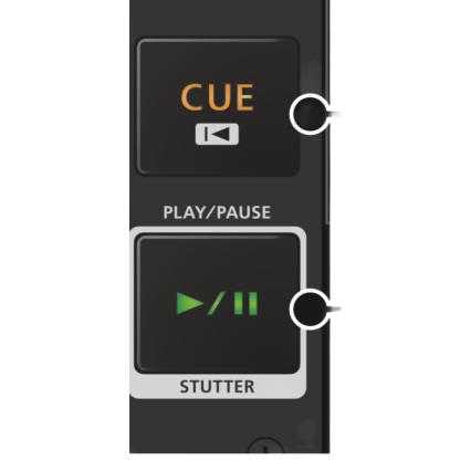 Boton Play Cue Roland DJ808